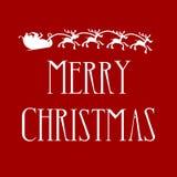 Joyeux Noël avec Santa et rennes illustration libre de droits