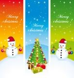 Joyeux Noël. Bannières verticales. Ensemble II. illustration de vecteur