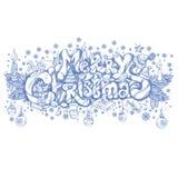 Joyeux Noël Belle inscription tirée par la main Photos libres de droits