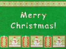 Joyeux Noël, bonhomme de neige et flocons de neige Image libre de droits