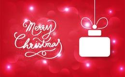 Joyeux Noël, calligraphie, cadeau de décoration, célébration pour h illustration stock