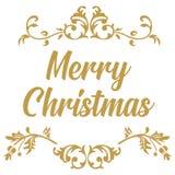 Joyeux Noël Calligraphie de Noël Lettrage moderne manuscrit de brosse main d'éléments dessinée par conception  illustration libre de droits