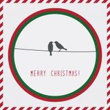 Joyeux Noël card2 de salutation Image stock