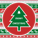Joyeux Noël card44 de salutation Photo stock