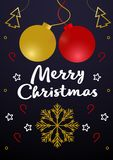 Joyeux Noël - carte de voeux de vecteur Fond de vintage avec illustration stock
