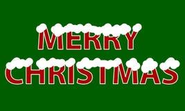 Joyeux Noël d'inscription avec la neige illustration libre de droits