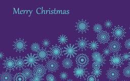 Joyeux Noël d'un flocon de neige un fond une carte illustration libre de droits