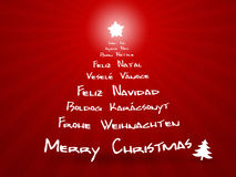 Joyeux Noël dans différents langages Photos libres de droits