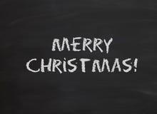 Joyeux Noël dans la craie Photographie stock