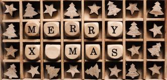 Joyeux Noël dans une boîte Photographie stock