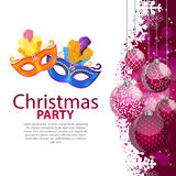 Joyeux Noël de beauté abstraite et fond de partie de nouvelle année illustration stock