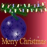 Joyeux Noël de carte postale Photographie stock