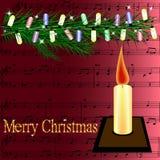 Joyeux Noël de carte postale Photo libre de droits