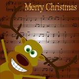 Joyeux Noël de carte postale Image libre de droits