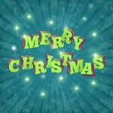 Joyeux Noël de carte Vecteur Images stock