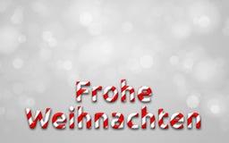 Joyeux Noël (en allemand) Photo libre de droits