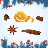 Joyeux Noël, ensemble de décor de nouvelle année Illustration de Vecteur