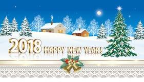 Joyeux Noël et bonne année 2018 Image stock
