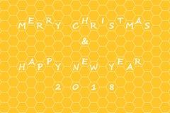 Joyeux Noël et bonne année 2018 Photos libres de droits
