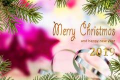 Joyeux Noël et bonne année 201 image libre de droits