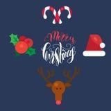 Joyeux Noël et bonne année illustration stock