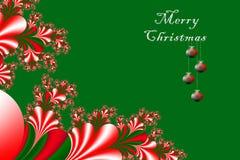 Joyeux Noël et bonne année avec l'embellissement de fractale, W illustration libre de droits
