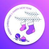 Joyeux Noël et bonne année Bas de l'Epifany illustration stock