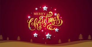 Joyeux Noël et bonne année 2018, calligraphiques, type Photographie stock libre de droits