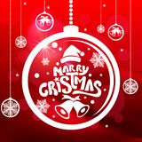 Joyeux Noël et bonne année ! Carte de voeux Photos libres de droits