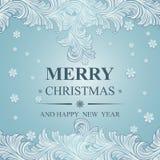 Joyeux Noël et bonne année d'affiche Photo stock