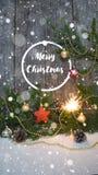 Joyeux Noël et bonne année Fond image libre de droits