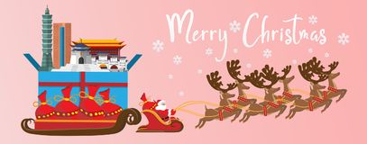 Joyeux Noël et bonne année illustration Santa de Claus illustration libre de droits