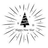 Joyeux Noël et bonne année sur un fond blanc illustration libre de droits