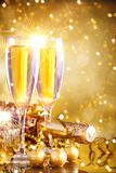 Joyeux Noël et bonne année Un fond du ` s de nouvelle année avec des décorations de nouvelle année Carte du ` s de nouvelle année photographie stock