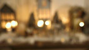 Joyeux Noël et bonnes fêtes ! Belles décorations de Noël banque de vidéos