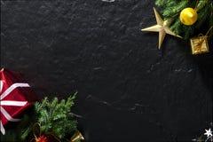 Joyeux Noël et cadeau newyear heureux Photographie stock