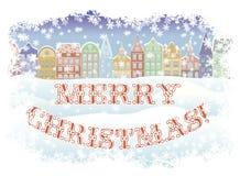 Joyeux Noël et carte de voeux de nouvelle année, vecteur illustration libre de droits