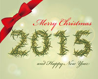 Joyeux Noël et carte heureuse d'année Photographie stock