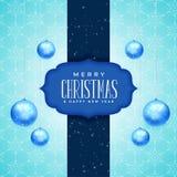 Joyeux Noël et design de carte de salutation de nouvelle année avec réaliste illustration stock