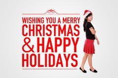 Joyeux Noël et fond heureux de vacances illustration stock
