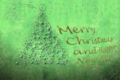 Joyeux Noël et an neuf heureux 2012 Image libre de droits