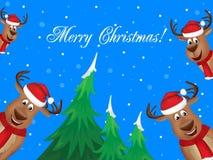 Joyeux Noël et an neuf heureux Photographie stock libre de droits