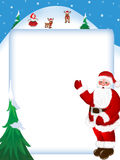 Joyeux Noël et an neuf heureux Image stock