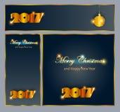 Joyeux Noël et nouvelle collection heureuse de 2017 célébrations d'an Image stock