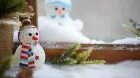 Joyeux Noël et saison heureuse d'hiver banque de vidéos