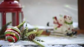 Joyeux Noël et saison heureuse d'hiver clips vidéos