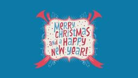 Joyeux Noël et une bonne année ! Plein clip vidéo de HD banque de vidéos