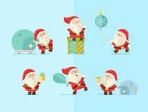 Joyeux Noël Fond de l'hiver de vecteur santa Photo libre de droits