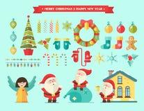 Joyeux Noël Hiver de vecteur Photo libre de droits