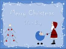 Joyeux Noël - il garçon de `SA Photo libre de droits